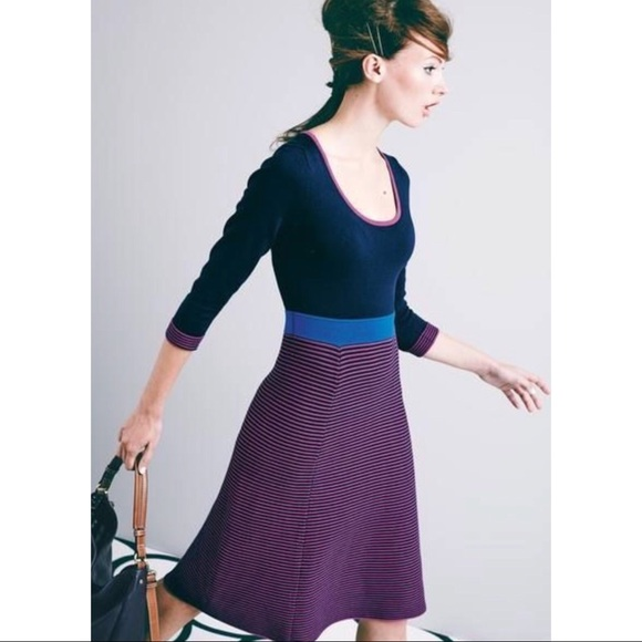 Boden Dresses Julietta Smart Day Dress Striped Us 6r Uk 10 Poshmark